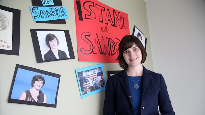 In this July 1, 2014 photo, Sandra Fluke poses for a photograph at her campaign office in Los Angeles. The former Georgetown University law student who gained national attention after being denied the chance to testify before Congress about health plan contraception coverage, and then subjected to degrading comments by radio host Rush Limbaugh, is trying to transform herself from advocate to lawmaker. She is running for the California state Senate to represent some of the most affluent communities of Los Angeles County, a district that stretches from the Hollywood Hills to the Palos Verdes peninsula. (AP Photo/Nick Ut)