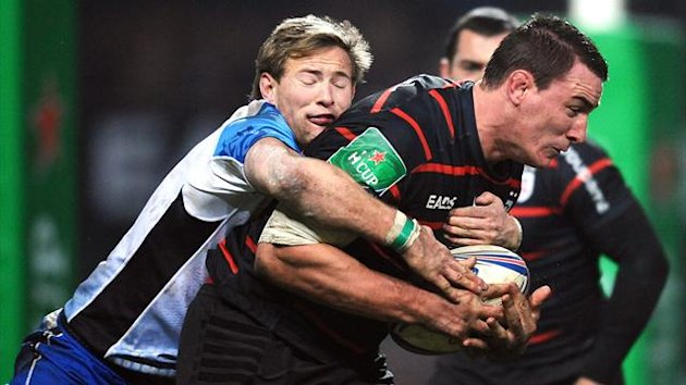 Connacht's scrum half Kieran Marmion (L) vies with Toulouse's Louis Picamoles during the European Cup rugby union match between Toulouse and Connacht on December 8, 2013 in the Ernest Wallon stadium in Toulouse, southwestern France (AFP)