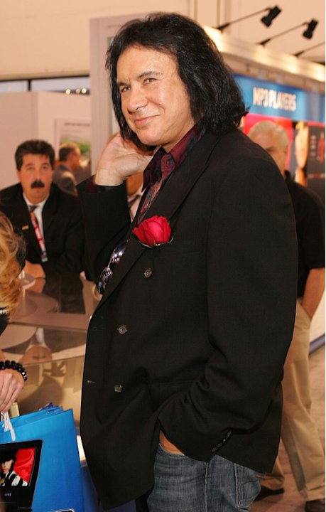 "Gene Simmons at the ""Gene Simmons Family Jewels"" Show at the Coby Electonics Booth at CES."