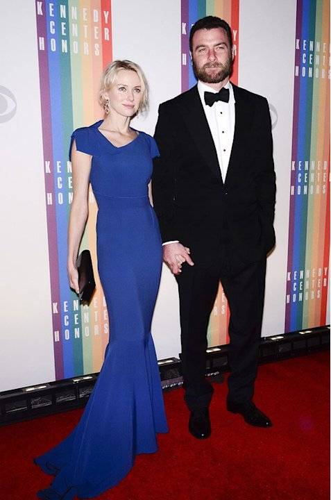 "Liev Schreiber looked handsome in his tux, but all eyes were on his partner, Naomi Watts, at last weekend's Kennedy Center Honors in Washington, D.C. The actress -- best known for her roles in ""Mulhol"