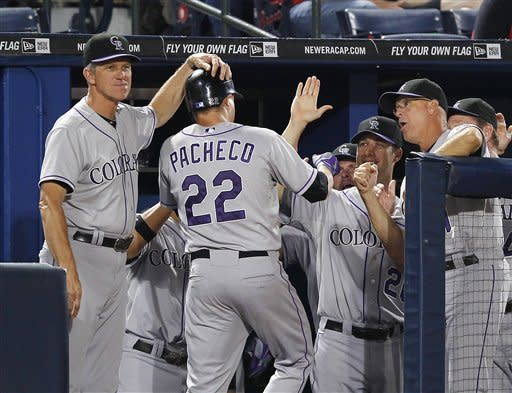 Gonzalez, Pacheco homer, Rockies beat Braves 6-0