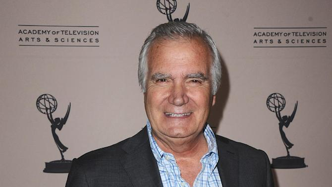 FILE - In this Thursday, June 13, 2013 photo, John McCook arrives at the 40th Annual Daytime Emmy Awards nominee reception at the Montage Beverly Hills, in Beverly Hills, Calif. The 40th Annual Daytime Emmy Awards are on Sunday, June 16, 2013, in Beverly Hills, Calif. (Photo by Scott Kirkland/Invision/AP, File)