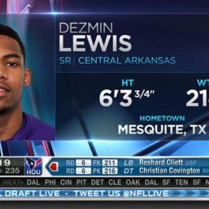 Buffalo Bills pick wide receiver Dezmin Lewis No. 234 in 2015 NFL Draft