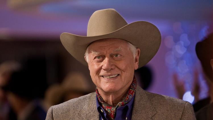 "Larry Hagman stars as J.R. Ewing in ""Dallas."""