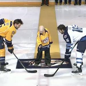 C.J. Jackson ceremonial puck drop