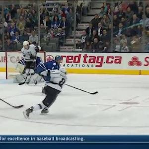 Drew Doughty rockets one for PPG on Bernier