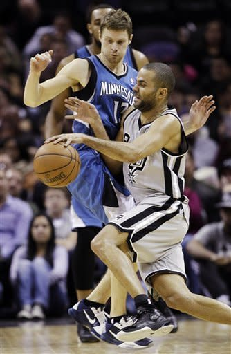 Parker leads Spurs past Timberwolves, 106-88