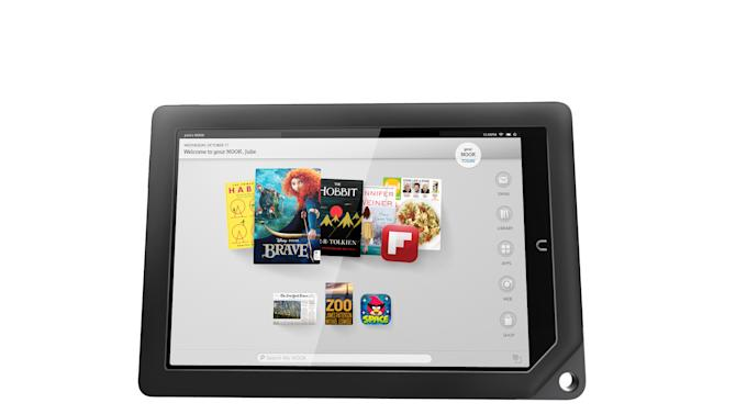 This undated image provided by Barnes & Noble shows one of the two new Nook tablets the company will be releasing in the fall of 2012. Tablets are at the top of many wish lists this holiday season. The choice used to be pretty limited, with the iPad dominating over the latecomers. But this year, the field is more even, as tablets from Apple's competitors have matured. In addition, Google and Microsoft have dived in with their own tablets, providing more choice. (AP Photo/Barnes & Noble)