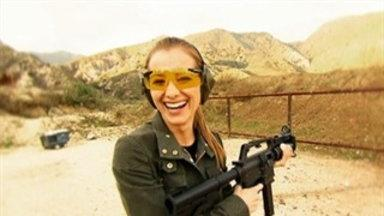 Candace Bailey Visits the Gun Range
