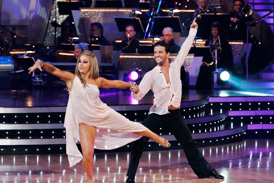 "Shawn Johnson and Mark Ballas perform the Rumba to ""Slow Dancing in a Burning Room"" by John Mayer on ""Dancing with the Stars."""