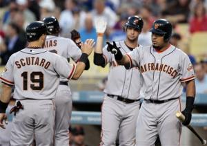 Giants beat Dodgers 8-4 to earn 3-game sweep