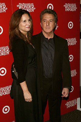 Dustin Hoffman and wife at the New York City premiere of Fox Walden's Mr. Magorium's Wonder Emporium