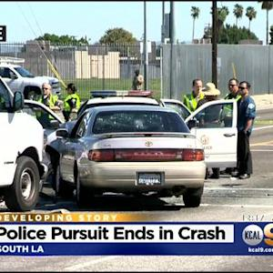 8 Injured After Reckless Driving Suspect Crashed During Pursuit In South LA