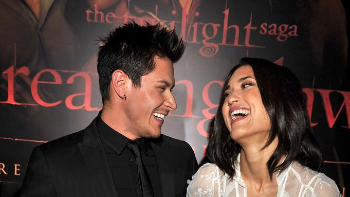 The Twilight Saga Breaking Dawn Part 1 2011 LA Premiere Alex Meraz Julia Jones