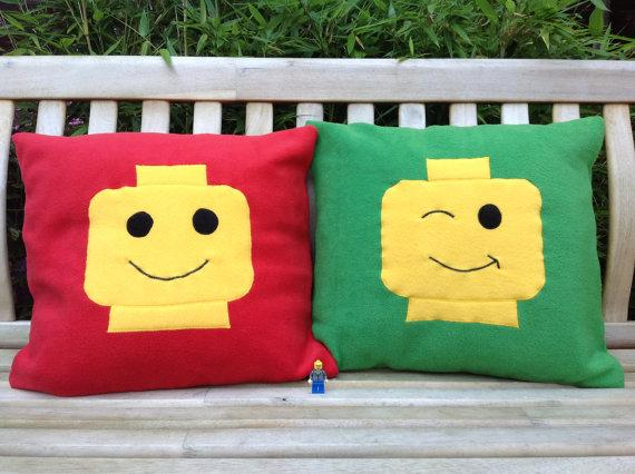 LEGO Head Pillows