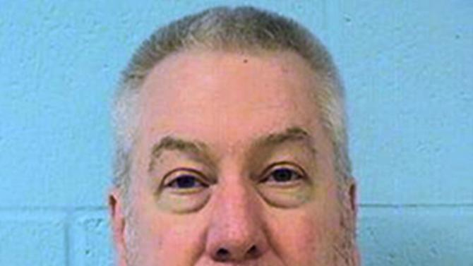 FILE - This undated file photo provided by the Illinois Department of Corrections shows former Bolingbrook, Ill., police officer Drew Peterson. On Tuesday, July 7, 2015, Peterson is due back in court in Chester, Ill., as his trial on charges of plotting to kill a prosecutor approaches. Peterson has pleaded not guilty to charges of soliciting an unidentified prison inmate to kill Will County State's Attorney James Glasgow.  (Illinois Department of Corrections via AP, File)
