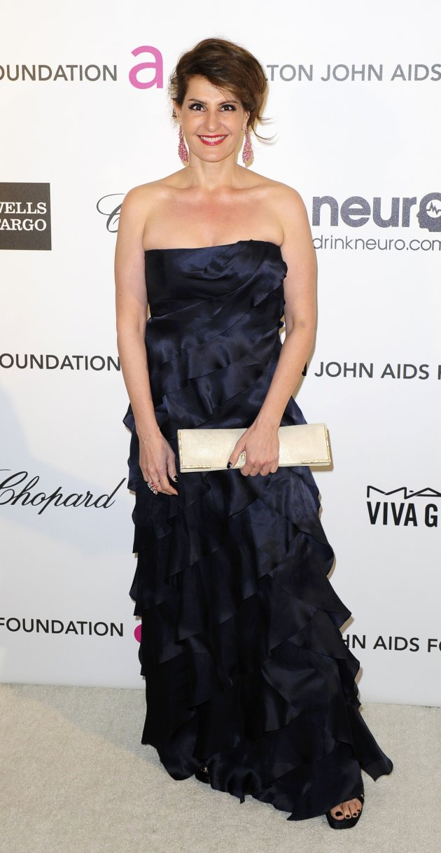 Screenwriter and actress Vardalos arrives at the 2013 Elton John AIDS Foundation Oscar Party in West Hollywood