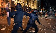 Protests Turn Violent Amid Huge Cuts In Spain