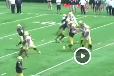 Notre Dame QB throws spring TD 60 yards in the air