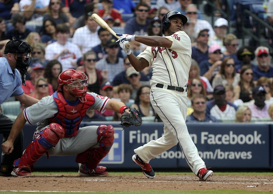 Gattis homers as Braves beat Phillies 12-5