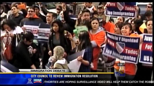 City council to review immigration resolution