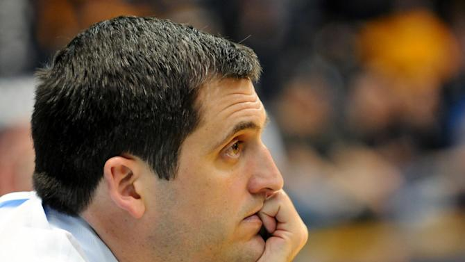 Murray State head coach Steve Prohm watches game action against St. Mary's late in the second half of an NCAA college basketball game on Saturday, Feb. 18, 2012, in Murray, Ky. (AP Photo/Stephen Lance Dennee)