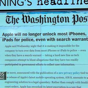 Headlines at 7:30: Apple's new operating system makes it impossible for the company to turn data over to police