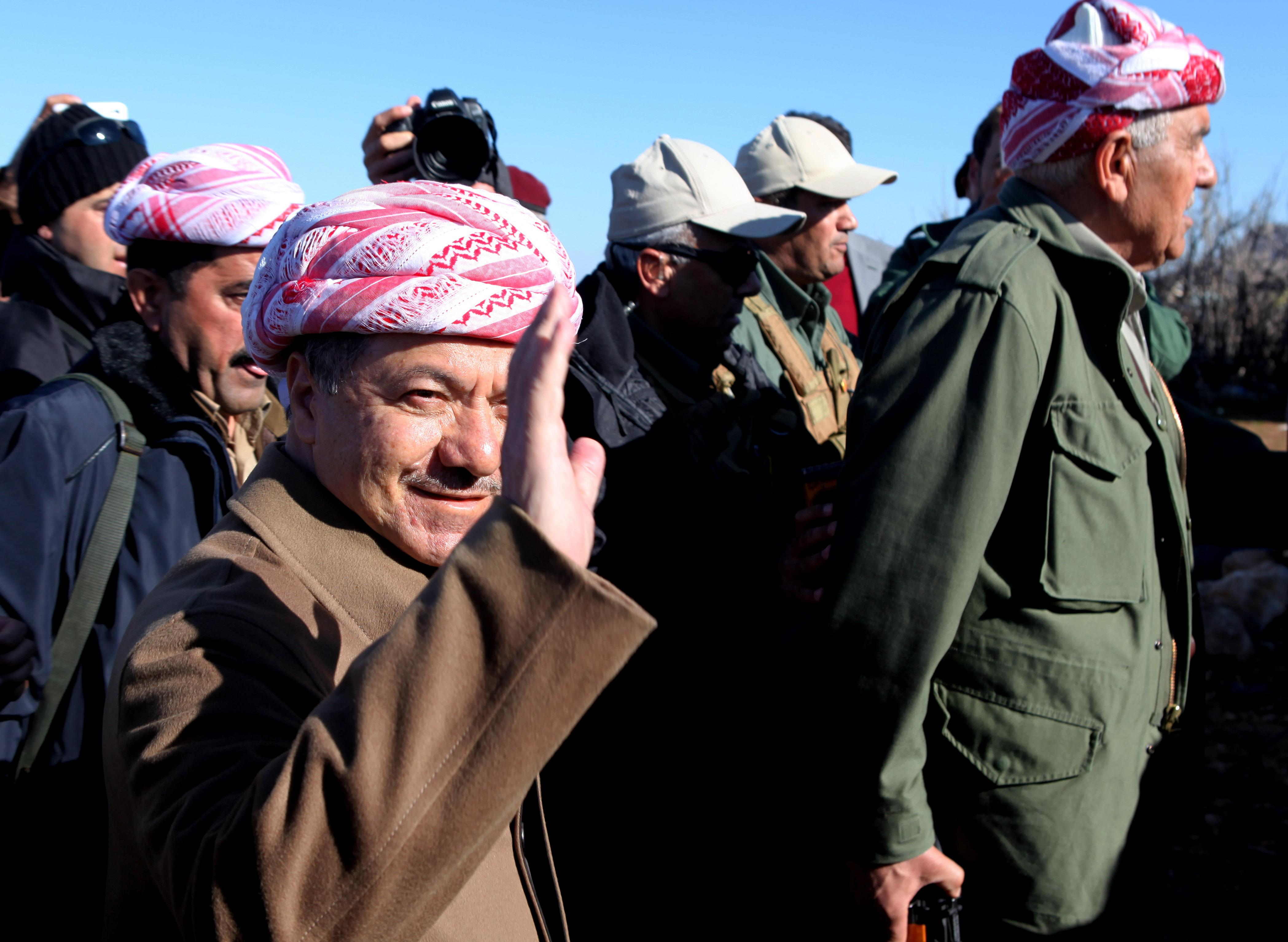 Kurdish fighters face resistance from IS in Iraq