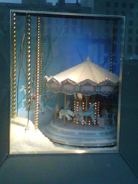 A miniature carousel at Tiffany's, Union Square, San Francisco. (Photo courtesy of Laurie Jo Miller Farr.)