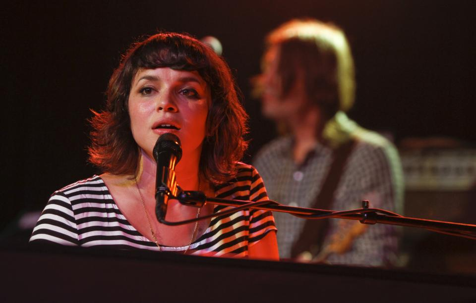 Norah Jones performs her entire new album during the SXSW Music Festival in Austin, Texas on Saturday, March 17, 2012.(AP Photo/Jack Plunkett)