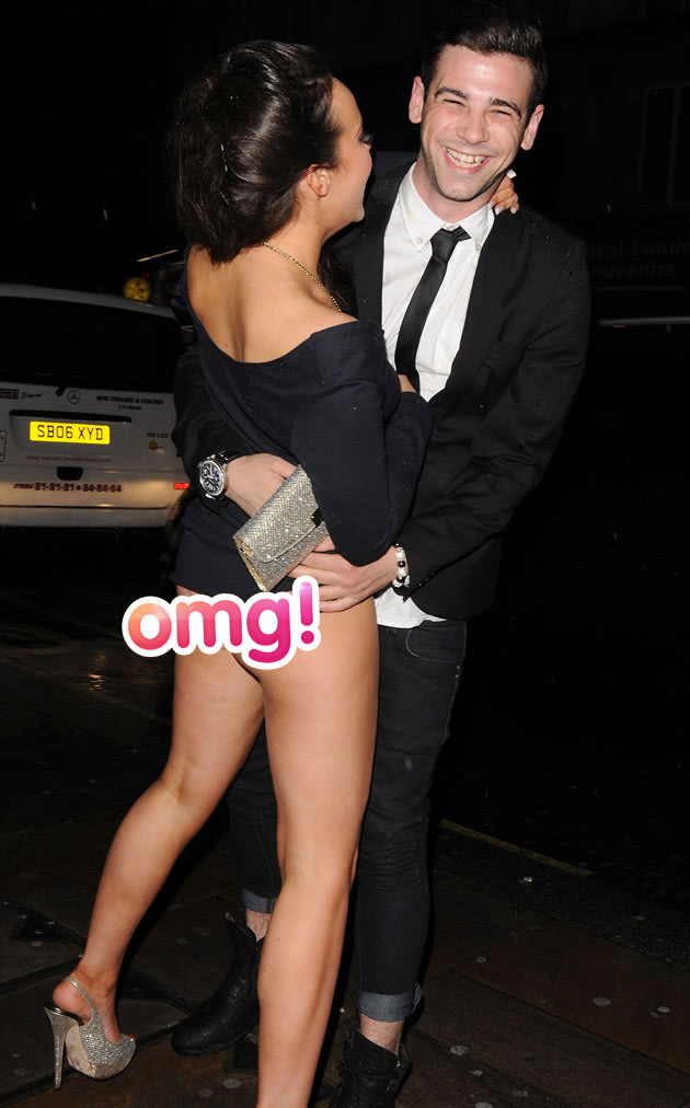 . Stephanie Davies has a wardrobe malfunction at the Soap Awards/Wenn