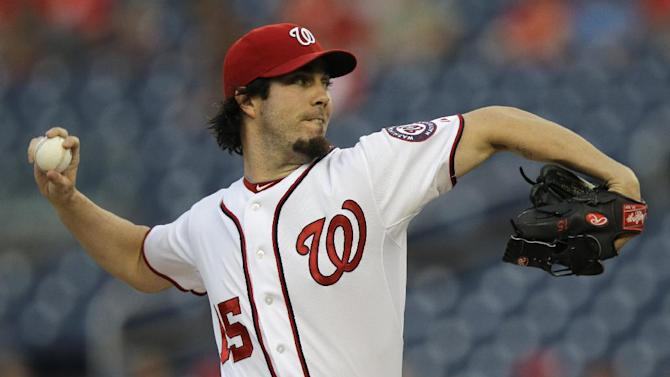 Haren hurls Nats past Phils 9-2