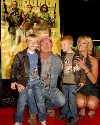 Tony Scott and family at the Hollywood premiere of New Line Cinema's Domino