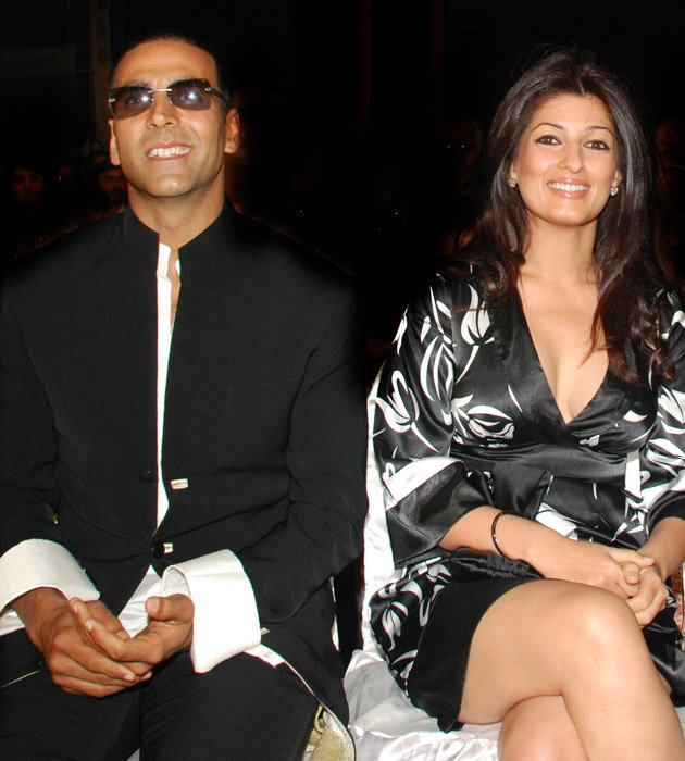 Twinkle prefers black snd here she is again in a gorgeous dress -  Twinkle khanna Latest pics