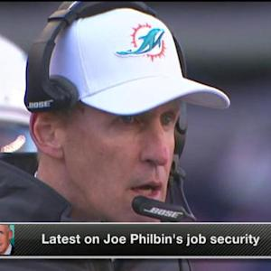 Is Miami Dolphins head coach Joe Philbin at risk of losing his job?