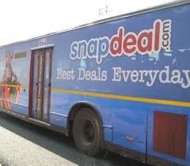 Snapdeal Twitter Contest #SnapdealBestPrice Snaps Up. Raises Questions In ORM image Snapdeal on bus