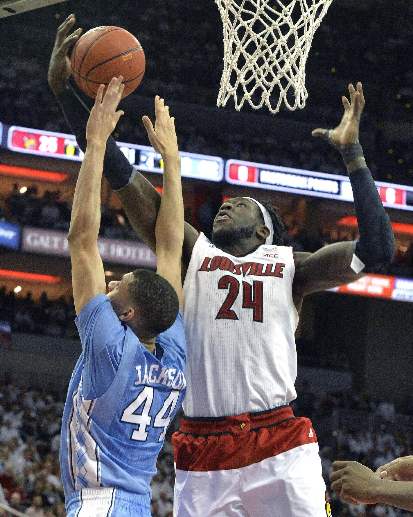 Louisville rallies from 18 down to beat UNC 78-68 in OT