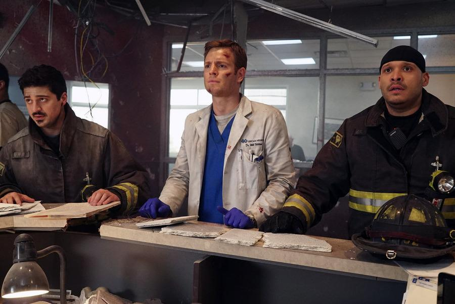 First Look: Chicago Med Team Races Into Action — and Flirts With Fire?