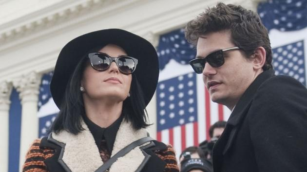 Katy Perry and John Mayer are seen at the inauguration for U.S. President Barack Obama's second term of office in Washington D.C. on January 21, 2013  -- Getty Premium