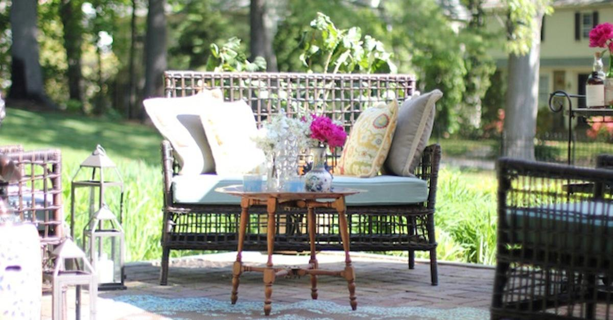 Mediterranean Blues Backyard With Pier 1 Imports