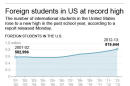 01 A.M. EST; graphic shows statistics for international students in the United States; 2c x 4 inches; 96.3 mm x 101 mm;