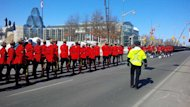 More than 800 police officers marched through Ottawa Saturday to honour fallen northern Quebec police officer Const. Steve Déry.