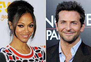 "New Couple Bradley Cooper, Zoe Saldana ""Making Out"" at New Year's Bash"