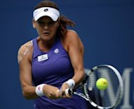 Agnieszka Radwanska of Poland plays against Nina Bratchikova of Russia during their women&#39;s first round 2012 US Open match at the USTA Billie Jean King National Tennis Center in New York. Radwanska won 6-1, 6-1
