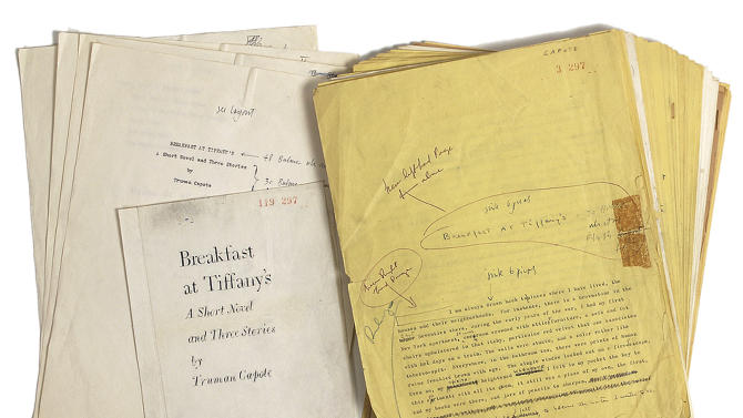 'Breakfast at Tiffany's' manuscript up for auction
