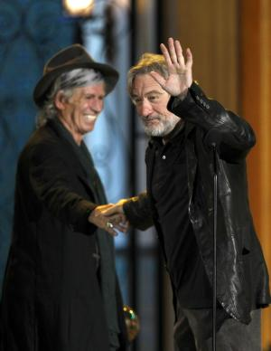 Keith Richards and Robert De Niro are seen onstage at the Spike TV Guys Choice Awards on Saturday, June 4, 2011, in Culver City, Calif. (AP Photo/Matt Sayles)