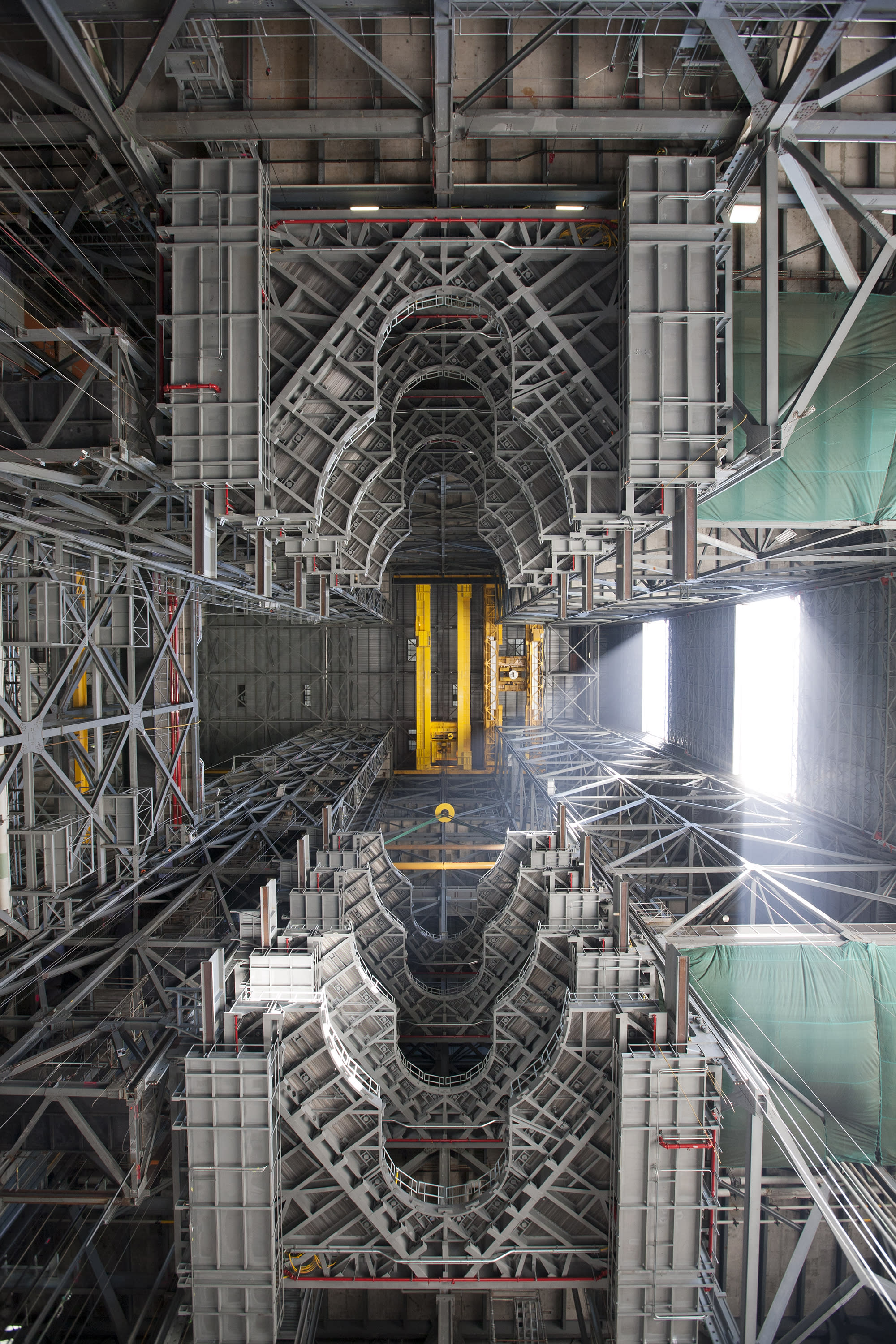 Happy birthday, NASA —here's a dizzying view of your massive Vehicle Assembly Building