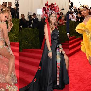 Beyonce Shows Serious Skin in Racy See-Through Gown at 2015 Met Gala