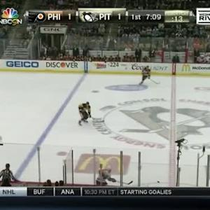 Zac Rinaldo Hit on Sidney Crosby (12:56/1st)