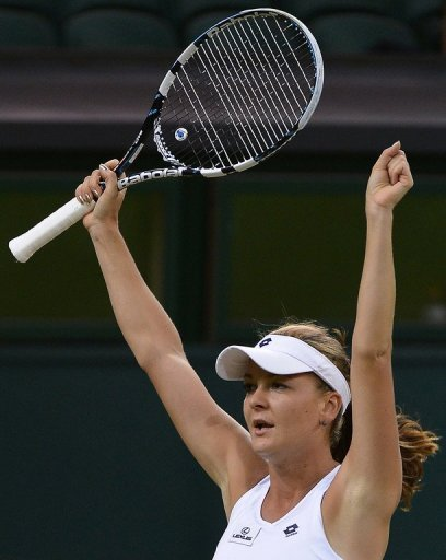 23-year-old Agnieszka Radwanska is the first Polish player to reach a Grand Slam semi-final in the Open era